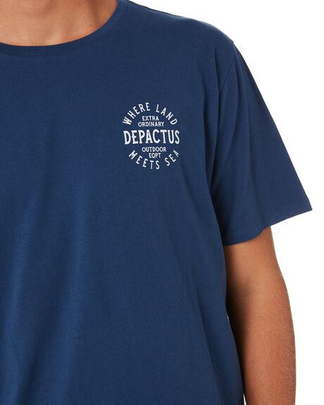 NAVY BLUE MENS CLOTHING DEPACTUS TEES - D5202007NAVY