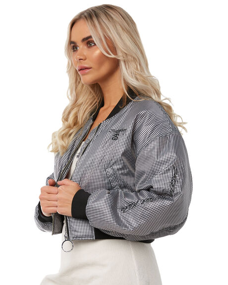 CHECK OUTLET WOMENS STUSSY JACKETS - ST181702CHECK