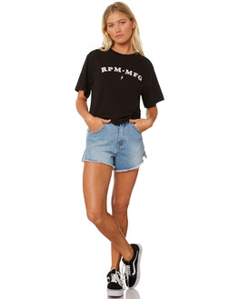 BLACK WOMENS CLOTHING RPM TEES - 8SWT03BBLK