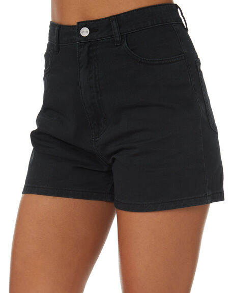BLACK WOMENS CLOTHING AFENDS SHORTS - W181300-BLK