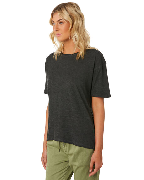 BLACK WOMENS CLOTHING SWELL TEES - S8184006BLACK