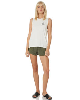 WHITE WOMENS CLOTHING VOLCOM SINGLETS - B3511903WHT