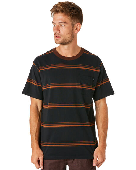 BLACK MENS CLOTHING AFENDS TEES - M184105BLK