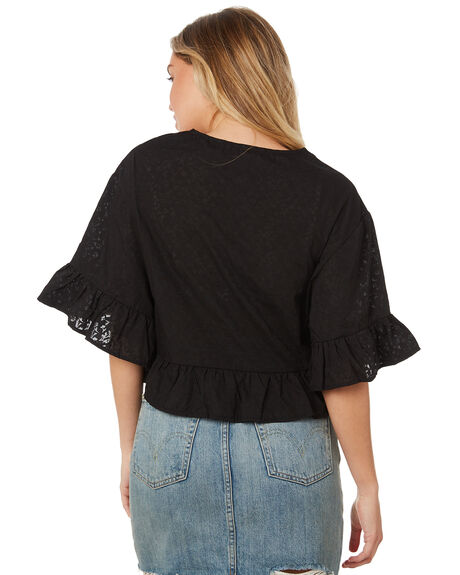BLACK OUTLET WOMENS THE HIDDEN WAY FASHION TOPS - H8184166BLACK