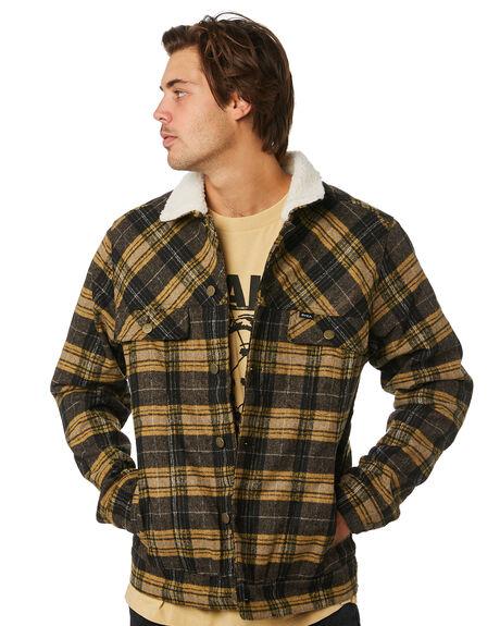 PLAID MENS CLOTHING RVCA JACKETS - R193436PLAID