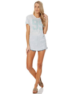 WHITE WOMENS CLOTHING HURLEY TEES - AGTSBLLA10A