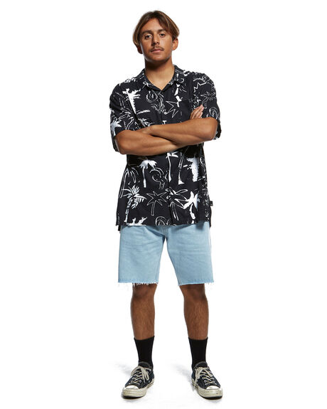 BLACK MENS CLOTHING QUIKSILVER SHIRTS - EQYWT03907-KVJ9