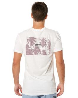 WHITE MENS CLOTHING RHYTHM TEES - JUL18M-PT10WHT
