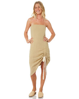 OLIVE WOMENS CLOTHING ZULU AND ZEPHYR DRESSES - ZZ2181OLI