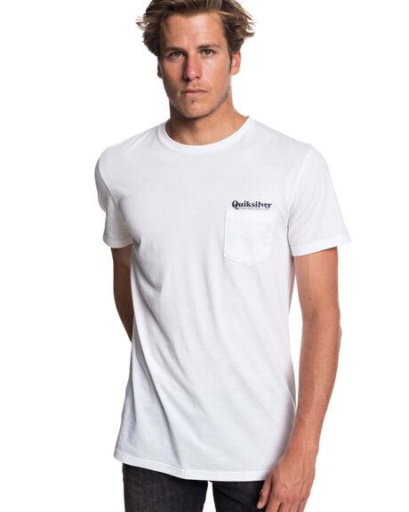 WHITE MENS CLOTHING QUIKSILVER TEES - EQYZT05120WBB0