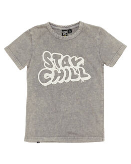 GREY ACID WASH KIDS BOYS ALPHABET SOUP TOPS - AS-KTC8315GRACD