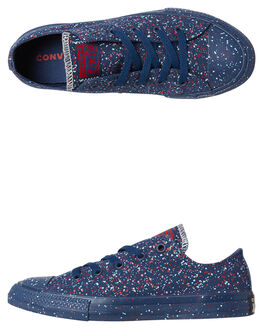 NAVY ENAMEL RED KIDS BOYS CONVERSE SNEAKERS - 660704NVY
