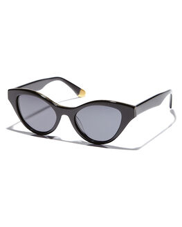 BLACK GLOSSGREY WOMENS ACCESSORIES SABRE SUNGLASSES - SS6-506B-GBLKGR