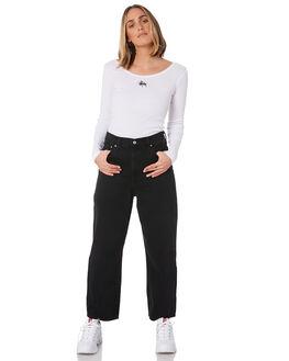 WHITE WOMENS CLOTHING STUSSY TEES - ST106114WHT