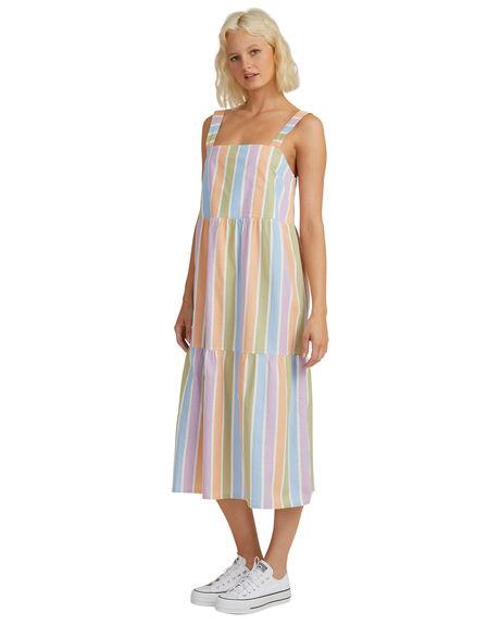 SHERBET STRIPE PEACH WOMENS CLOTHING QUIKSILVER DRESSES - EQWWD03041-NFV3