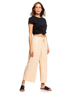 IVORY CREAM WOMENS CLOTHING ROXY PANTS - ERJNP03248-TFM0