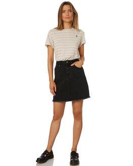 NATURAL STRIPE WOMENS CLOTHING THRILLS TEES - WTS8-115AZNAT