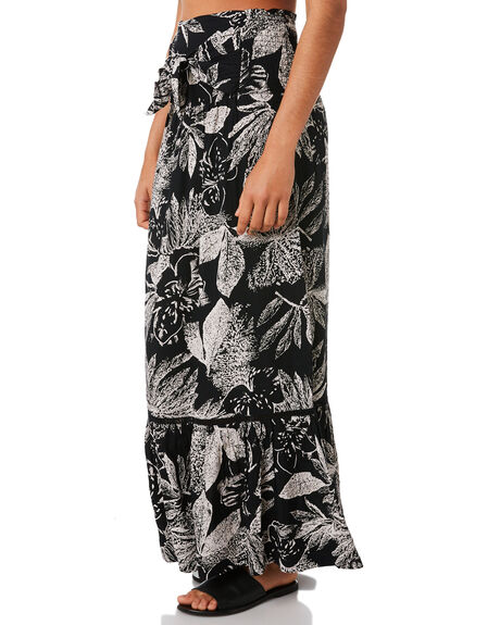 BLACK COMBO OUTLET WOMENS VOLCOM SKIRTS - B1441875BLC