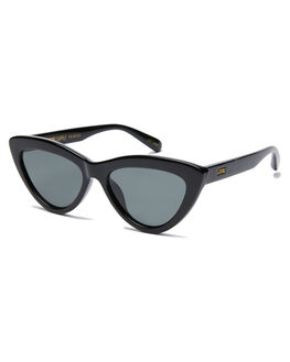 GLOSS BLACK WOMENS ACCESSORIES LOCAL SUPPLY SUNGLASSES - RESORTBKG25