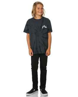 BLACK KIDS BOYS RUSTY TOPS - TTB0644BLK