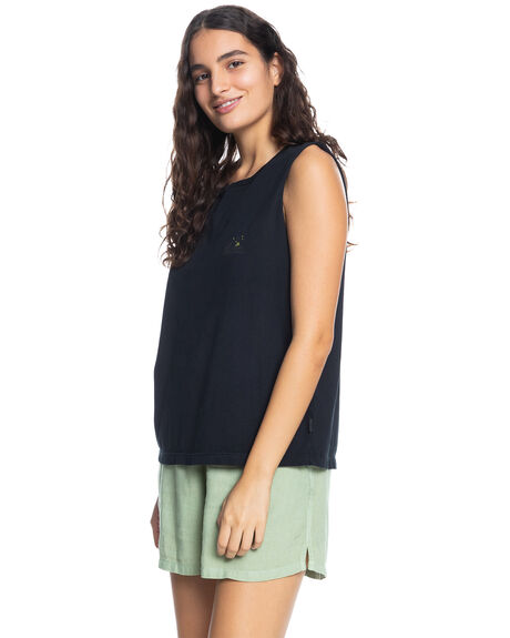 BLACK WOMENS CLOTHING QUIKSILVER FASHION TOPS - EQWZT03042-KVJ0