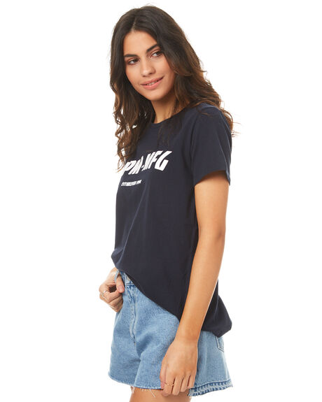 NAVY WOMENS CLOTHING RPM TEES - 7PWT01ANVY