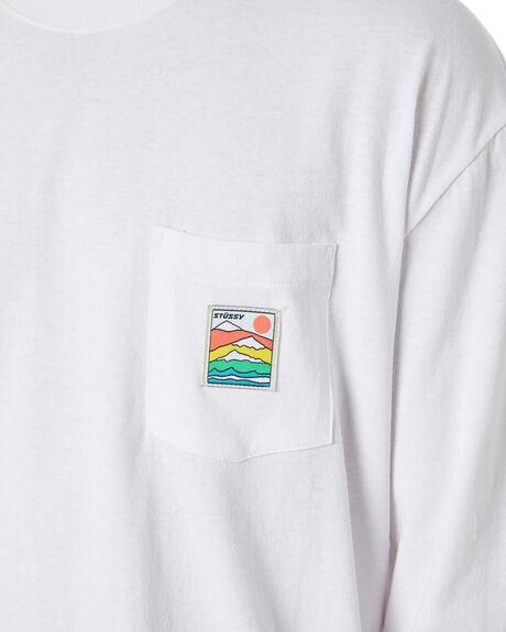 WHITE MENS CLOTHING STUSSY TEES - ST006011WHT