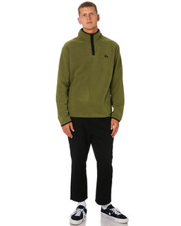 ARMY GREEN MENS CLOTHING STUSSY JUMPERS - ST096201ARM