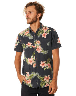 BLACK MENS CLOTHING RIP CURL SHIRTS - CSHMG10090