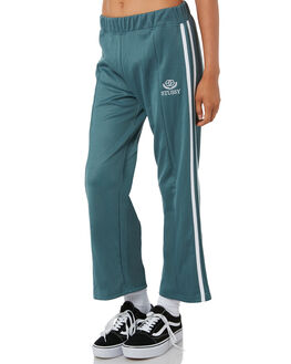 DARK TEAL WOMENS CLOTHING STUSSY PANTS - ST195618TEAL