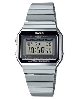 SILVER MENS ACCESSORIES CASIO WATCHES - A700W-1ASIL