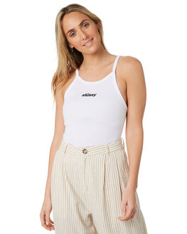 WHITE WOMENS CLOTHING STUSSY SINGLETS - ST193203WHT