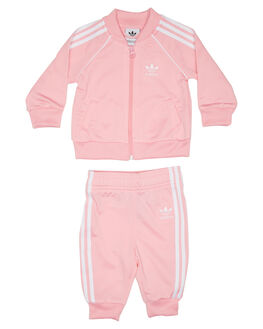 LIGHT PINK KIDS TODDLER GIRLS ADIDAS JUMPERS + JACKETS - DV2823LPINK