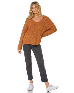 LIGHT BROWN WOMENS CLOTHING RIP CURL KNITS + CARDIGANS - GSWFT40297