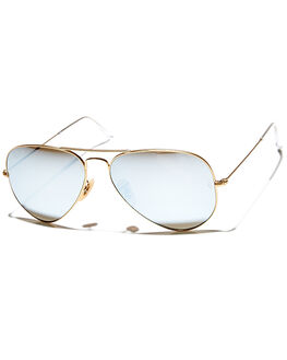 MATTE GOLD BLUE UNISEX ADULTS RAY-BAN SUNGLASSES - 0RB3025112W3