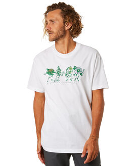 WHITE MENS CLOTHING PASS PORT TEES - PPFLORALWHT