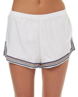 WHITE WOMENS CLOTHING TIGERLILY SHORTS - T372303WHT