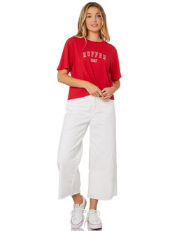 RED WOMENS CLOTHING HUFFER TEES - WTE84S7222RED