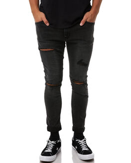 HOWLING BLACK MENS CLOTHING A.BRAND JEANS - 81123B3637