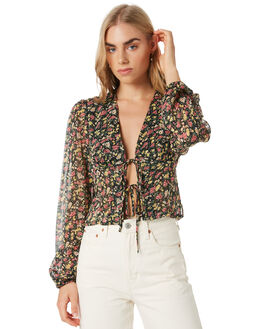 FLORAL WOMENS CLOTHING LULU AND ROSE FASHION TOPS - LU23967FLORAL