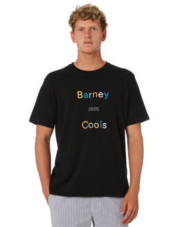 BLACK MENS CLOTHING BARNEY COOLS TEES - 111-CC4BLK
