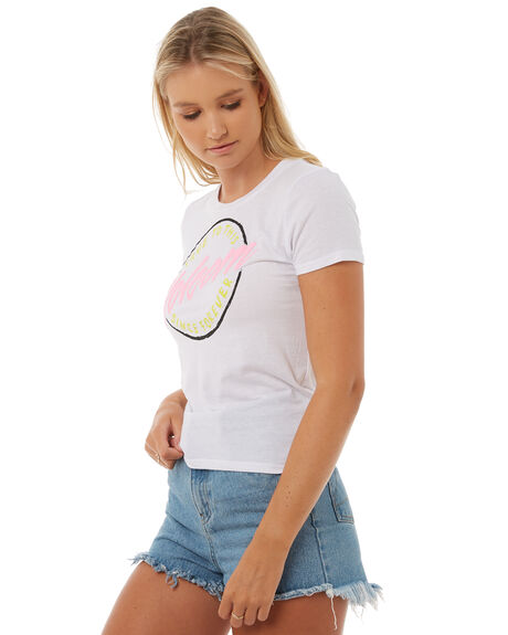 WHITE WOMENS CLOTHING VOLCOM TEES - B3511805WHT