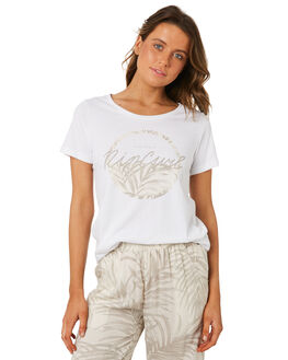 WHITE WOMENS CLOTHING RIP CURL TEES - GTEXB11000