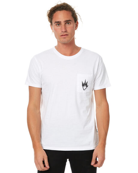 WHITE MENS CLOTHING AFENDS TEES - 01-01-261WHT
