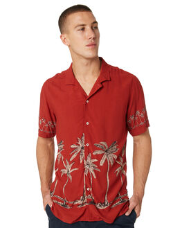 RED BAHAMAS MENS CLOTHING BARNEY COOLS SHIRTS - 308-CC2-RDBMS