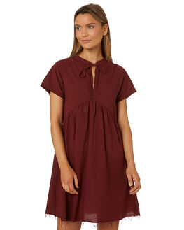 BLOOD RED WOMENS CLOTHING THRILLS DRESSES - WTS8-905HRED