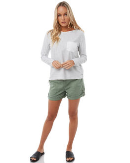 MARSHMALLOW WOMENS CLOTHING ROXY TEES - ERJKT03366WBT0