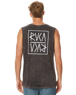 BLACK ACID MENS CLOTHING RVCA SINGLETS - R171001BACID