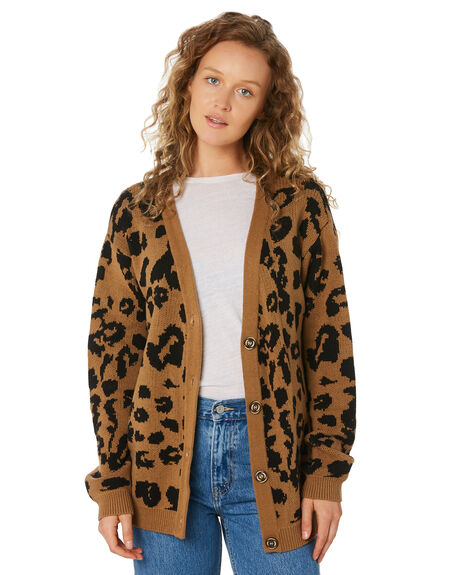 LEOPARD WOMENS CLOTHING THE HIDDEN WAY KNITS + CARDIGANS - H8194148LEOPD