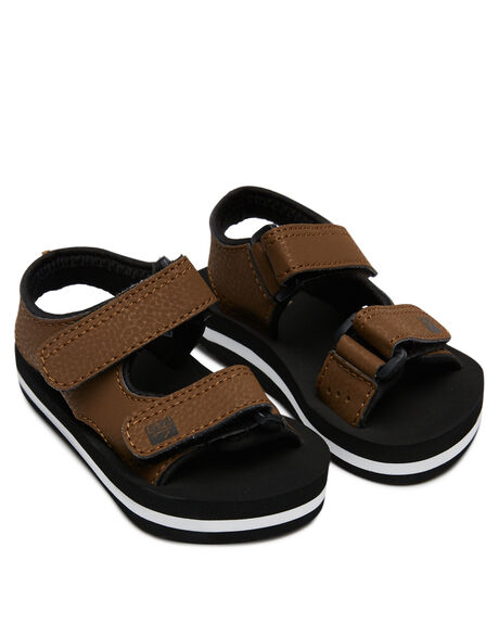 BLACK BROWN KIDS BOYS REEF THONGS - 5096BKB